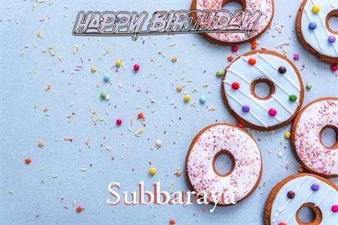 Happy Birthday Subbaraya Cake Image