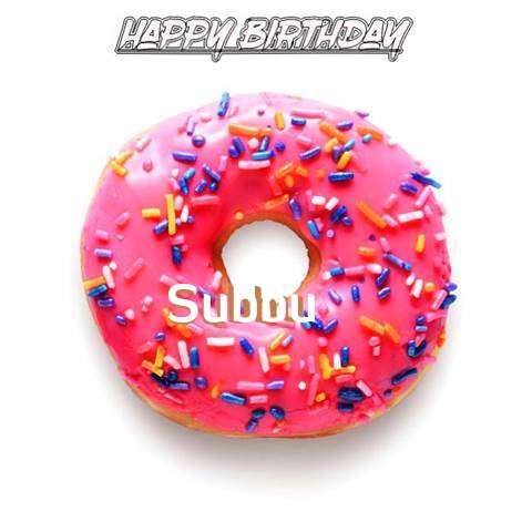Birthday Images for Subbu