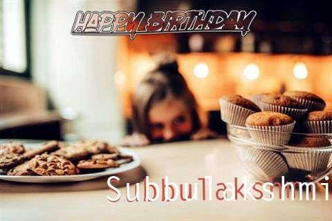 Happy Birthday Subbulakshmi Cake Image