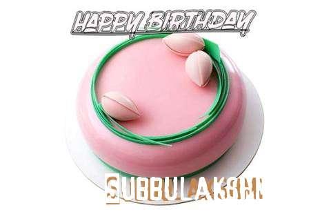 Happy Birthday Cake for Subbulakshmi