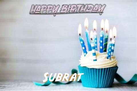 Happy Birthday Subrat Cake Image