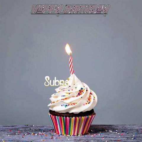 Happy Birthday to You Subrat