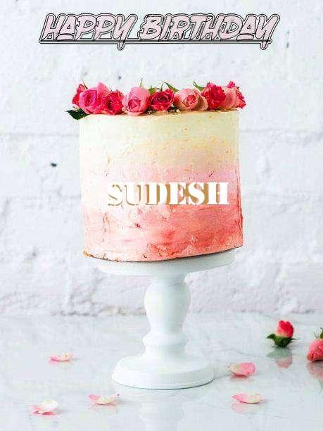 Happy Birthday Cake for Sudesh