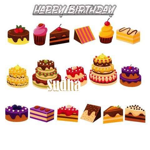 Happy Birthday Sudha Cake Image