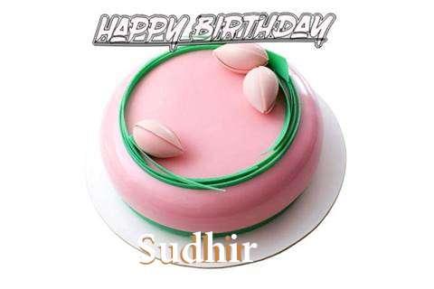 Happy Birthday Cake for Sudhir
