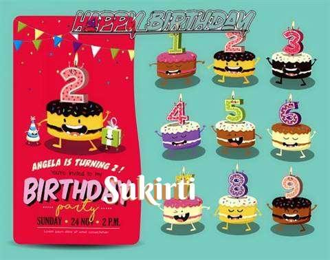 Happy Birthday Sukirti Cake Image