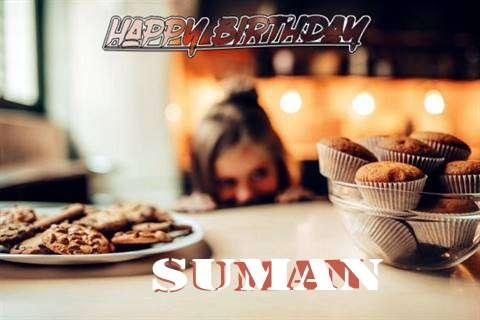 Happy Birthday Suman Cake Image