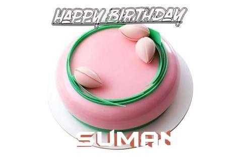 Happy Birthday Cake for Suman