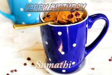 Happy Birthday Wishes for Sumathi