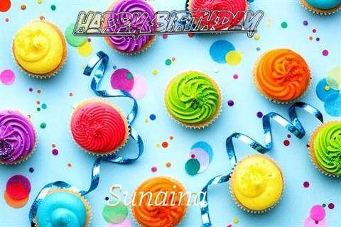 Happy Birthday Cake for Sunaina