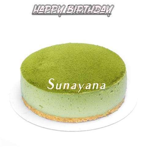 Happy Birthday Cake for Sunayana