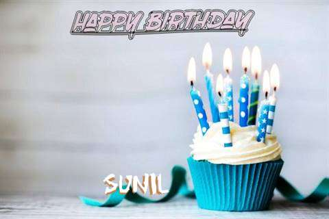 Happy Birthday Sunil Cake Image