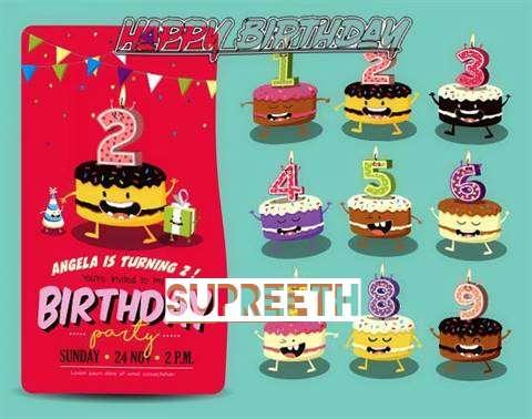 Happy Birthday Supreeth Cake Image
