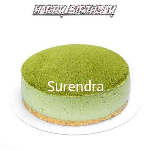 Happy Birthday Cake for Surendra