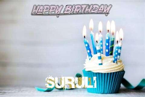 Happy Birthday Suruli Cake Image