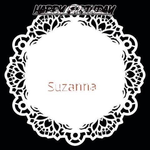 Happy Birthday Suzanna Cake Image