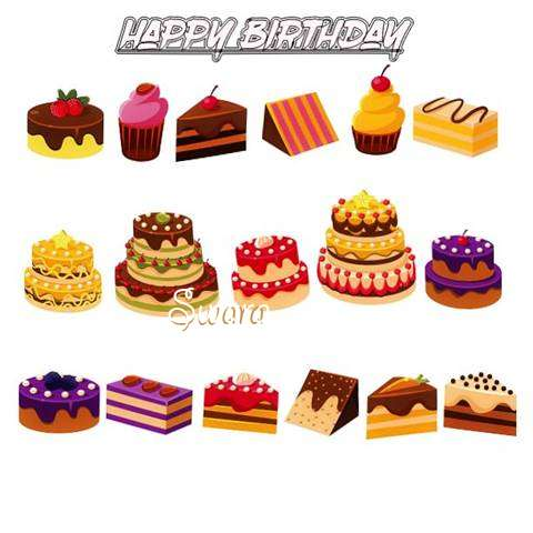 Happy Birthday Swara Cake Image