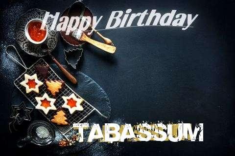 Happy Birthday Tabassum Cake Image