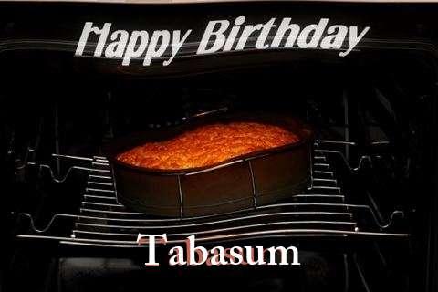 Happy Birthday Tabasum Cake Image