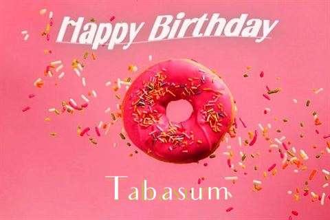 Happy Birthday Cake for Tabasum