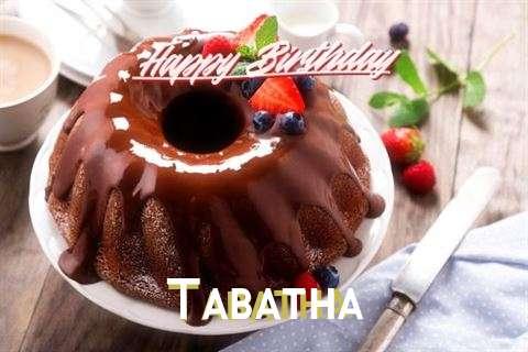 Happy Birthday Tabatha Cake Image