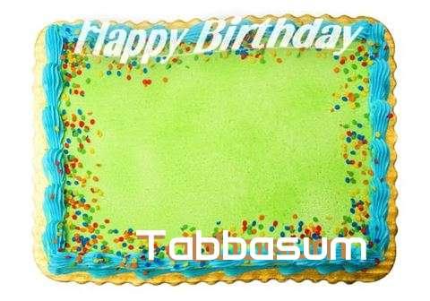 Happy Birthday Tabbasum Cake Image