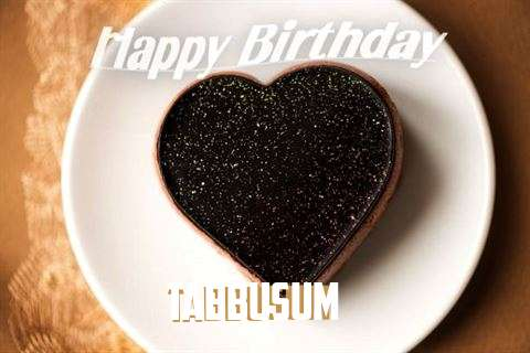 Happy Birthday Tabbusum Cake Image