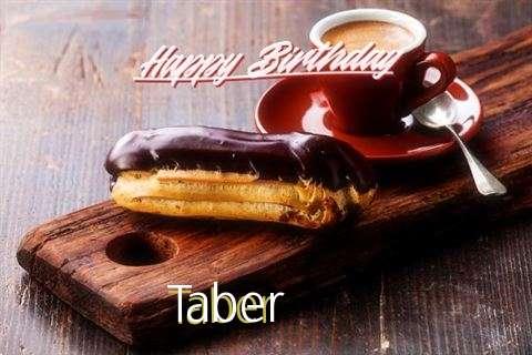 Happy Birthday Taber Cake Image