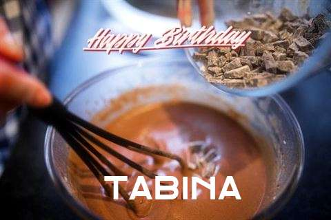 Happy Birthday Tabina Cake Image