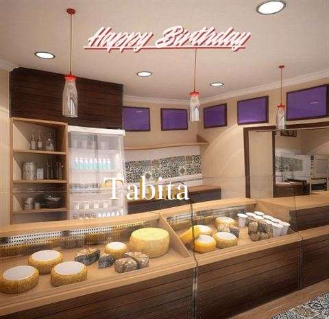 Happy Birthday Tabita Cake Image