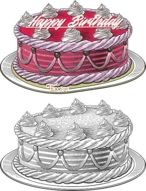 Happy Birthday Taccara Cake Image