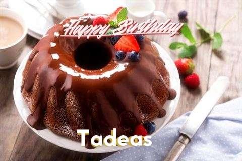 Happy Birthday Tadeas Cake Image