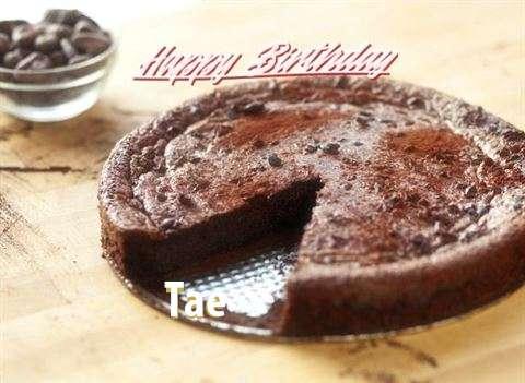 Happy Birthday Cake for Tae