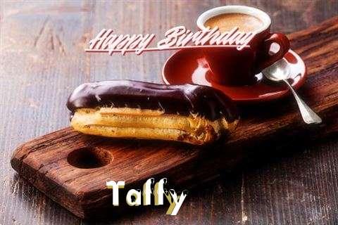 Happy Birthday Taffy Cake Image