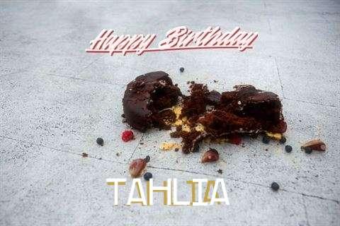 Happy Birthday Tahlia Cake Image