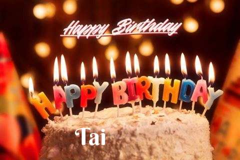 Happy Birthday Cake for Tai