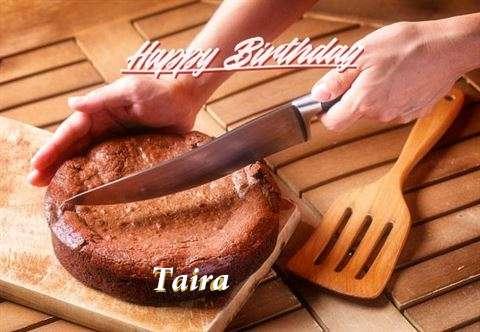 Happy Birthday Taira Cake Image