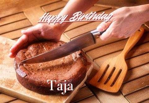 Happy Birthday Taja Cake Image