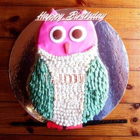 Happy Birthday Cake for Tajuddin