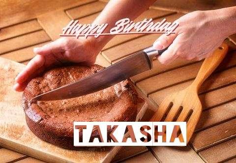 Happy Birthday Takasha Cake Image