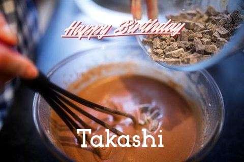 Happy Birthday Takashi Cake Image