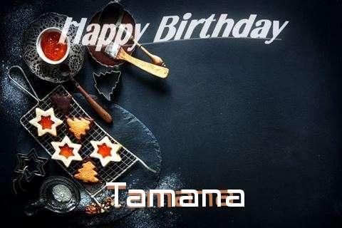 Happy Birthday Tamana Cake Image