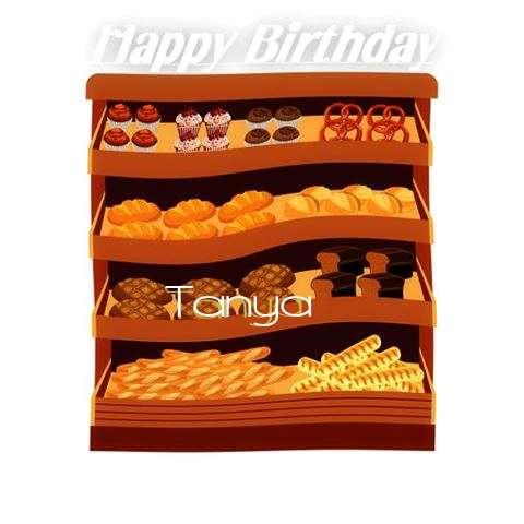 Happy Birthday Cake for Tanya