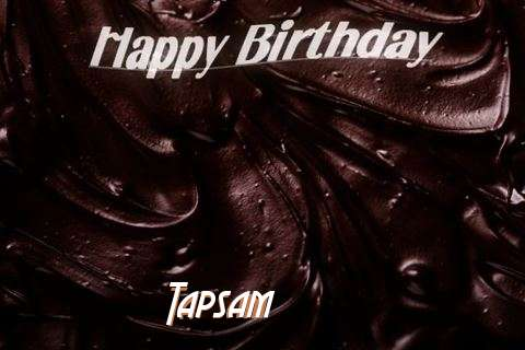 Happy Birthday Tapsam Cake Image