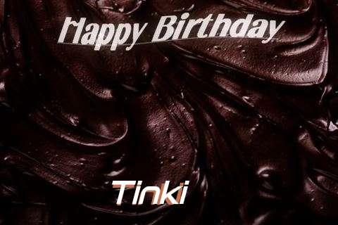 Happy Birthday Tinki Cake Image