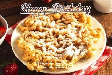 Happy Birthday Trisha Cake Image