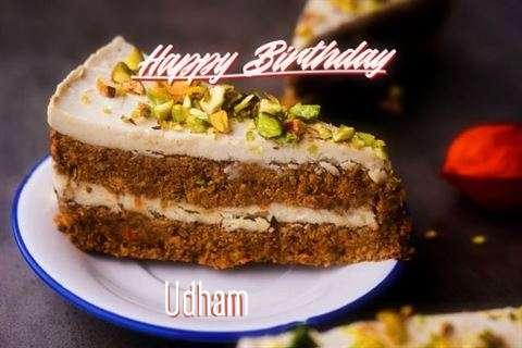 Happy Birthday Udham Cake Image