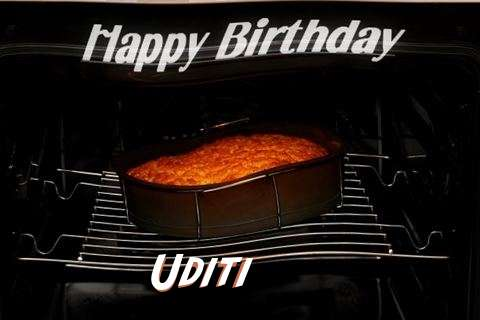Happy Birthday Uditi Cake Image
