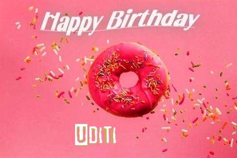 Happy Birthday Cake for Uditi