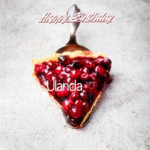 Happy Birthday to You Ulanda
